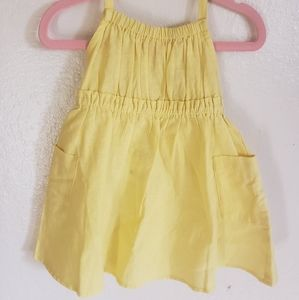 New! Crazy 8 Yellow Halter Sundress 12 to 18 Month